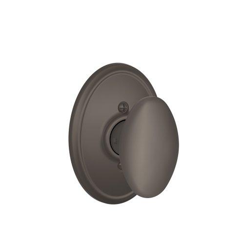 (Schlage Lock Company Siena Knob with Wakefield Trim Non-Turning Lock, Oil Rubbed Bronze (F170 SIE 613 WKF) )