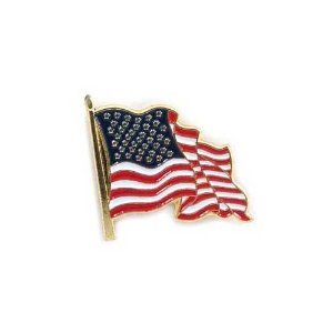 US Flag Store Waving Lapel Pin USA - In Us Online Stores