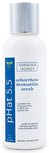 Seborrheic and Atopic Dermatitis Body and Facial Scrub with Manuka Honey & Aloe Vera - Natural and Organic Exfoliating Face and Body Scrub - Gentle Moisturizing Exfoliant for Sensitive Skin (4 oz) (Best Products For Seborrheic Dermatitis Face)