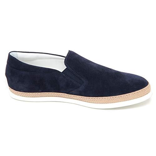 Scarpe F0346 Rafia Shoe Man Slip Blu Uomo Suede Loafer On Sneaker Tod's IOqf4CwxO