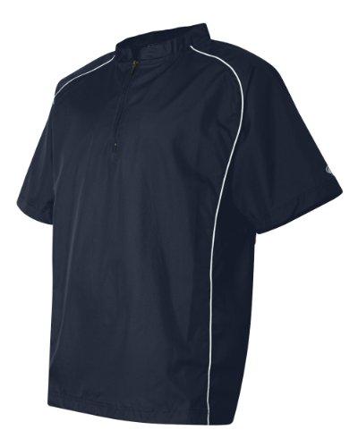 Rawlings Adult Quarter-Zip Short Sleeve Dobby Jacket With Pi
