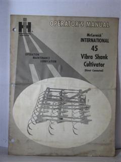 international harvester operators manual McCormick international 45 vibra shank cultivator direct connected 12- 15- 65 by international harvester