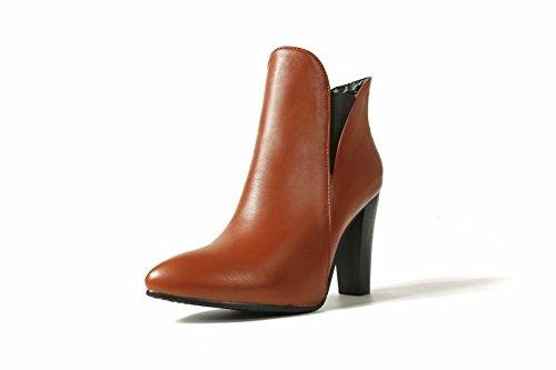Balamasa Womens Spikes Stilettos Robe À Bout Pointu Chaussures En Uréthane Abl09985 Marron