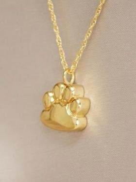Ever My Pet Paw Pendant Cremation Urn Gold Plated by Ever My Pet