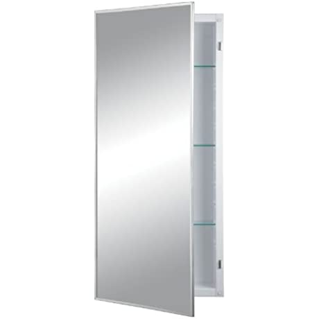 Jensen 460P34CH Federal Spec Medicine Cabinet Stainless Steel 16 Inch By 36 Inch