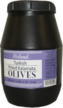 Roland Turkish Pitted Kalamata Olives 4.4 Lb (6 Pack) by Roland