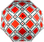 Haas-Jordan by Westcott Loudmouth Umbrella, Red/White/Black, 64-Inch