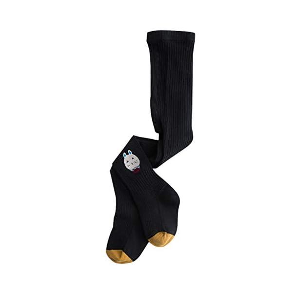Bambini Collant In Cotone Calzamaglia Leggings Danza Pantaloni Modello Animale Nero 1-3 Anni 1