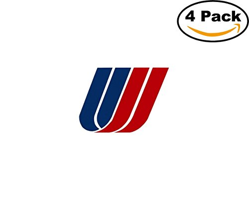 Airlines United Airlines Logo 4 Stickers 4X4 Inches Car Bumper Window Sticker Decal