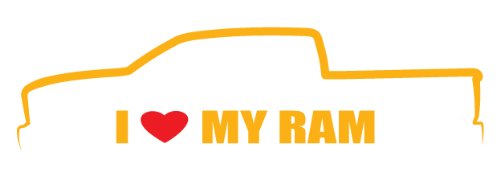 (I Love My Ram Crew cab Decal Size :8x2.2 Inch (20,5x5,5cm) Die cut sticker)