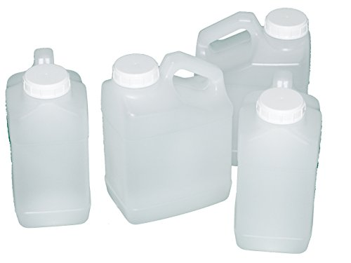 (Jug, 1 Gallon, Wide Mouth, F-Style, plastic, natural color, Pack of 4)