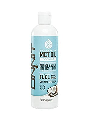Onnit Emulsified MCT Oil - 100% Coconut-Derived, Mixes Easily into Hot or Cold Beverages
