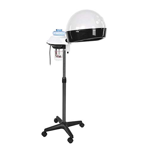 Filfeel Hair Steamer Dryer Floor Stand, Professional Salon Spa Portable Bonnet Coloring Processor Steamer with Adjustable Rolling Wheels(US)