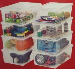 Cajas de plastico Cajas transparentes Paquete 10 cajas