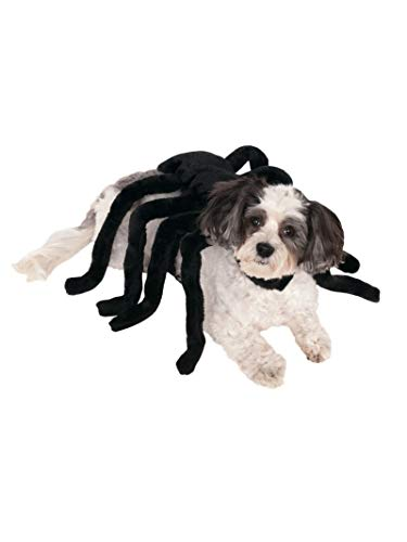Black Pug Spider Costume (Rubie's Pet Spider Harness Costume,)
