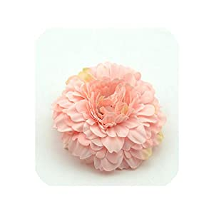 100PCS Chrysanthemum Artificial Silk Flower Head for Home Wedding Party Decoration Wreath,Pink 29