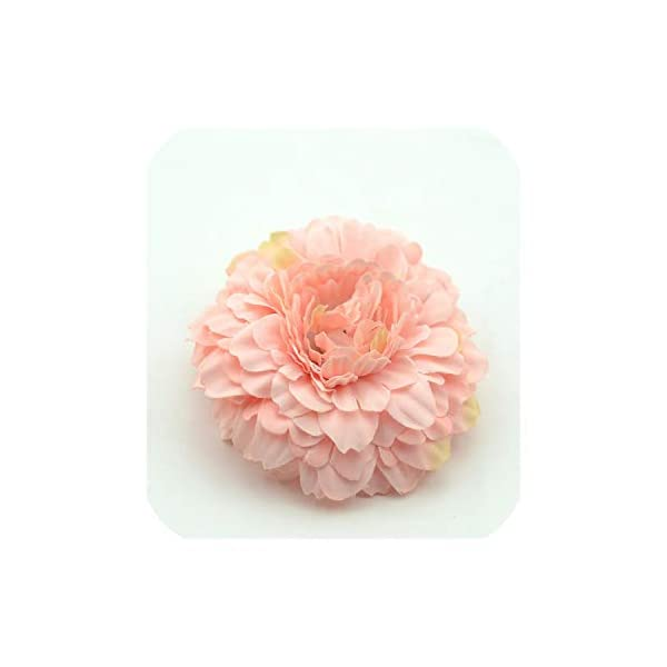 100PCS Chrysanthemum Artificial Silk Flower Head for Home Wedding Party Decoration Wreath,Pink