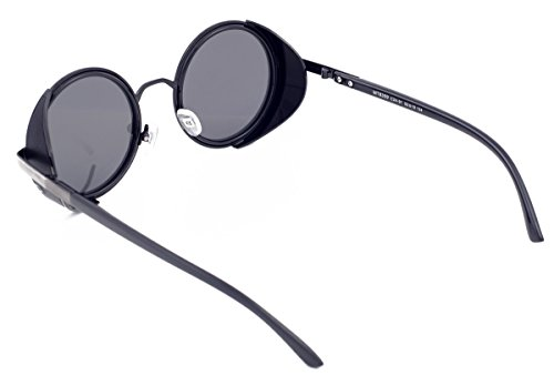 hommes conception vintage la par style Matrix cru lunettes lunettes polarisés Steampunk Les rétro années 50 de ont de soleil de arrondi des de de dZ4qZFRxw