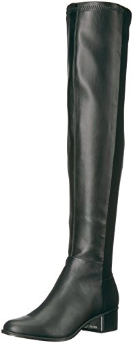 Calvin Klein Women's Carney Over The Knee Boot, Black Stretch, 5.5 Medium US by Calvin Klein