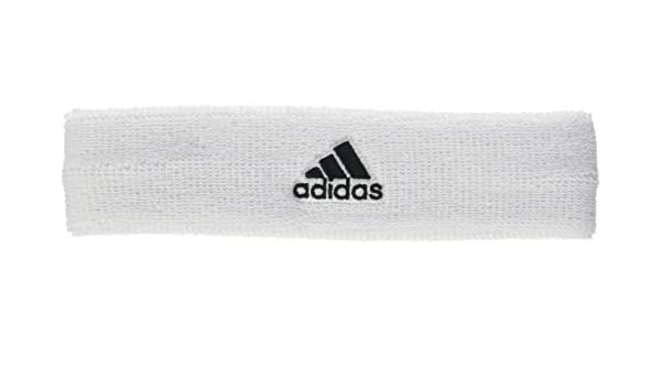 Amazon.com  adidas Headband Tennis Logo White One Size Training Sport  S97911 Accessories New  Sports   Outdoors 37049a85ff7