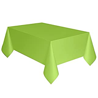 "Unique 99143 Green Party Plastic Table Cover, 54"" x 108"", 1Ct"