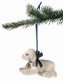 Steiff Lamb Christmas Ornament Mohair 4 inches 2003 ()