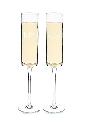 Cathy's Concepts Mr. & Mrs. Contemporary Champagne Flutes by Cathy's Concepts