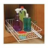 Under Sink Pull Out Basket - wire (White) (5''h x 12''w x 18 3/4''d)