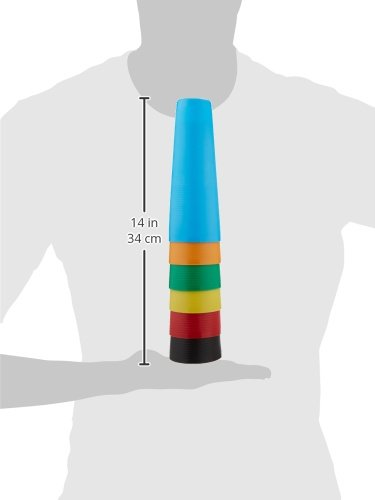 Sammons Preston Plastic Large Stack Cones, Medical Rehabiliation and Activity Exercise for Recovery, Funtional Hand Therapy for Upper Extremity, Hand-Eye Coordination, Set of 30 by Sammons Preston (Image #2)