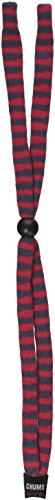 Chums Original Cotton Standard End Eyewear Retainer, Red/Gray Stripe