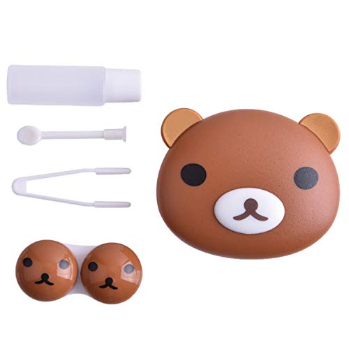 BONAMART ® Cute Travel Contact Lens Case Kit Holder Mirror Box