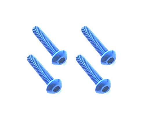 Square R/C RC Model Hop-ups SQ-NAR-316BY Square R/C M3 x 16mm Aluminum Button Head Hex Screws (Blue) 4 pcs. 16 Mm Square Button