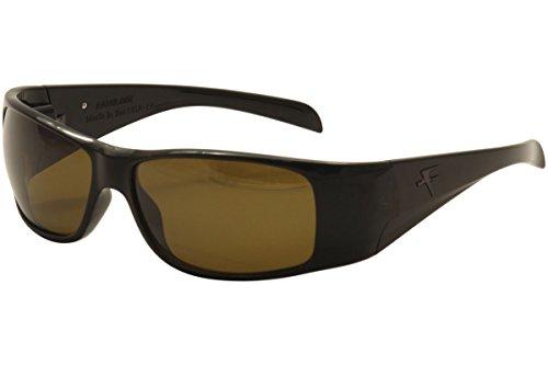 Fatheadz Eyewear Men's Modello V2.0 FH-V031-1BR Polarized Rectangular Sunglasses, Black, 63 - 2 For $20 Sunglasses