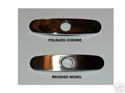 kitchen faucet coverplate cover plate brushed nickel touch on