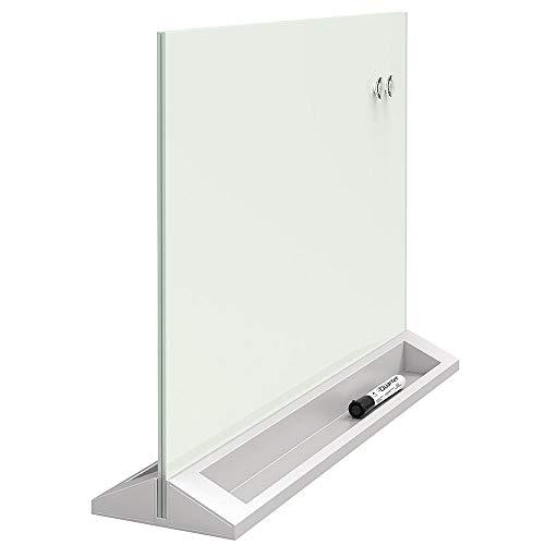 Quartet Glass Whiteboard Desktop Panel, Magnetic, 17