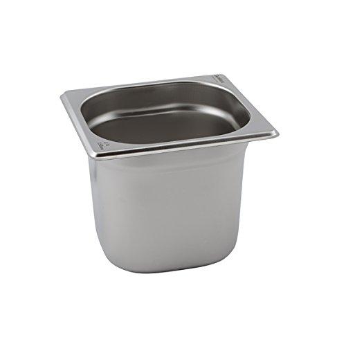 contenitore per alimenti misura 1//6 profondit/à 65 mm Gastronorm in acciaio inox Vogue