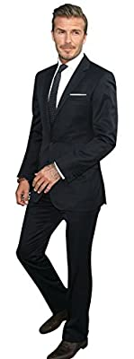 David Beckham Stylish Black 2 Peice Suit For Men