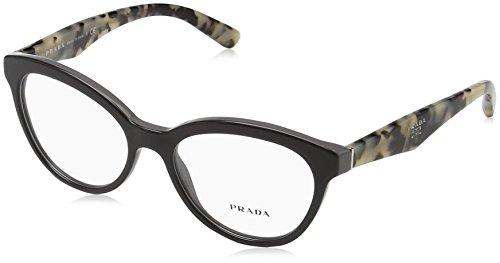 Prada TRIANGLE PR11RV Eyeglass Frames TFN1O1-52 - Opal - Eyeglass Grey Frames