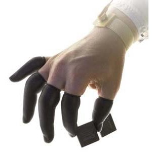Techni-Tool Fingercots Powder Free Esd Black Latex Cr M by Techni-Tool