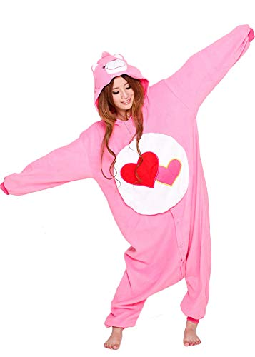 Love A Lot Bear Onesie for Adult and Teenagers. Halloween Animal Kigurumi Pajama Costume for Men and Women -