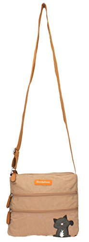 SwankySwans - Riley Cat Designer, Borsa a tracolla Donna Beige