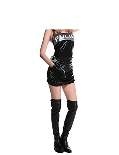 PiterNace Sexy;nice Adult Police Costume Set Halloween Costume Cosplay Black-2X-Large -
