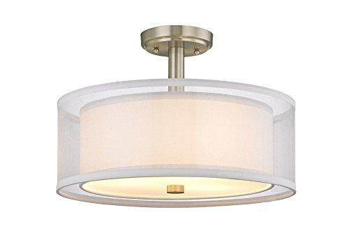 (Dolan Designs 1275-09 Four Light Semi Flush Mount, Pwt, Nckl, B/S,)