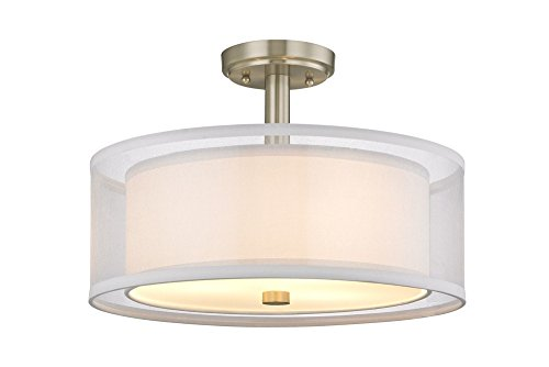 Dolan Designs 1275-09 Four Light Semi Flush Mount, Pwt, Nckl, B/S, Slvr. ()