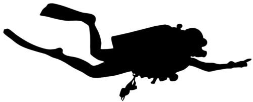 Scuba Diver Diving Silhouette Car Window Decal Sticker DVR006 (WHITE COLOR DECAL) - Die Cut Decal Bumper Sticker For Windows, Cars, Trucks, Laptops, - Diver Silhouette
