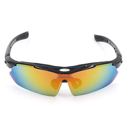 Adisaer Sport Brille Herren Hiking Fishing Running Golf UV Protection Goggles Black for Unisex (Golf-brille)