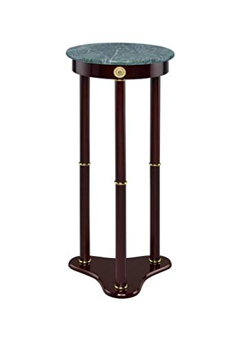 Marble Top Round Plant Stand Merlot and - Cherry Stand Plant