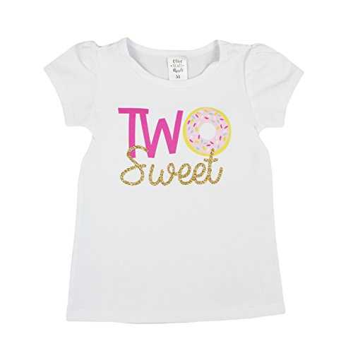 Olive Loves Apple Girls 2nd Birthday Shirt Two Sweet Donut Two 2nd Birthday Outfit for Toddler Girls