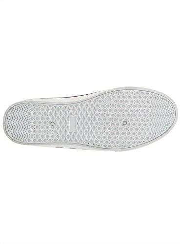 oodji Ultra Mujer Zapatillas Slip On Estampadas de Algodón Blanco (1029A)