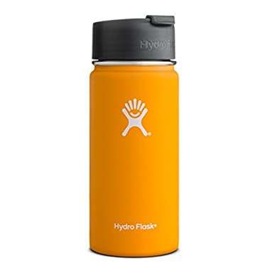 Hydro Flask 20 oz Vacuum Insulated Stainless Steel Water Bottle, Wide Mouth w/Hydro Flip Cap, Mango